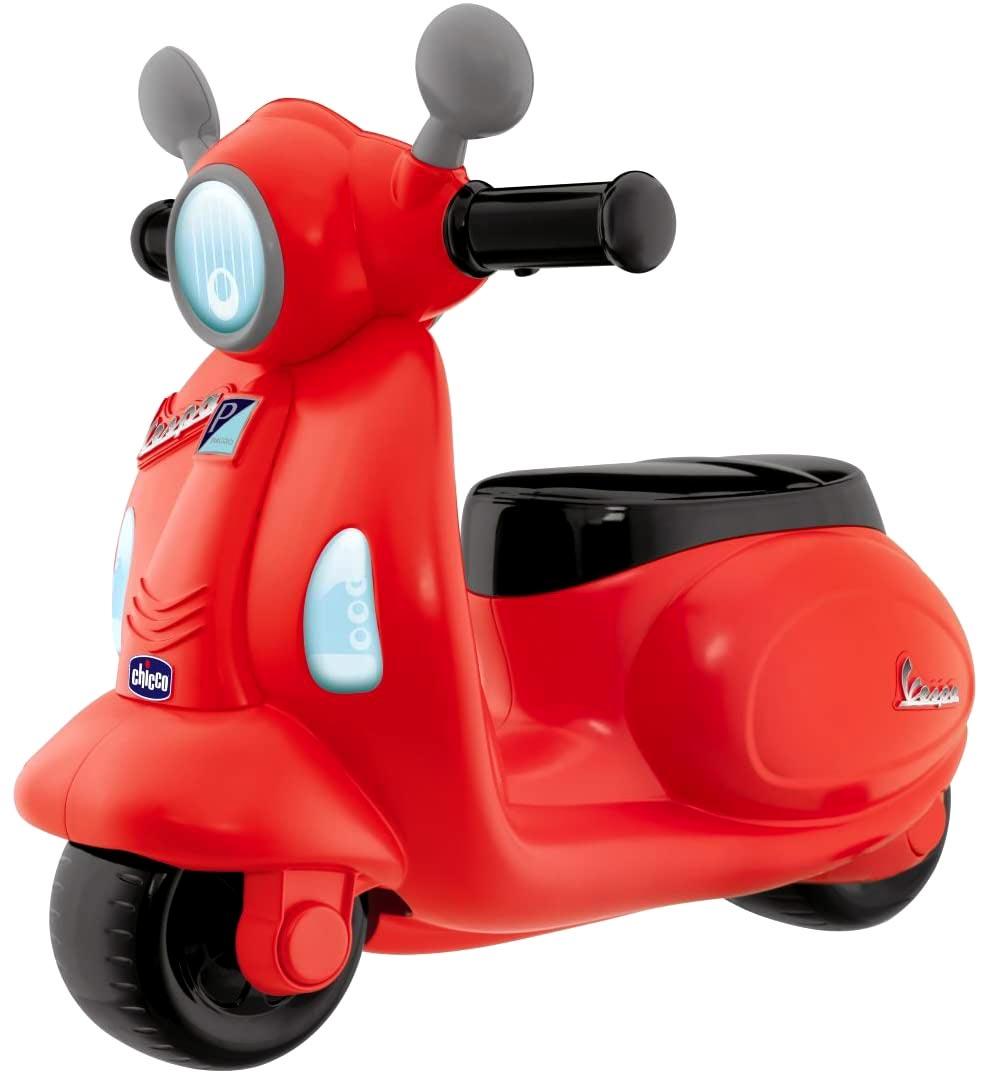 moto correpasillos vespa color rojo